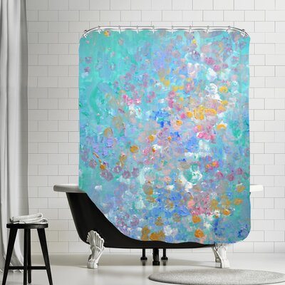 Vangundy Shower Curtain Color: Teal