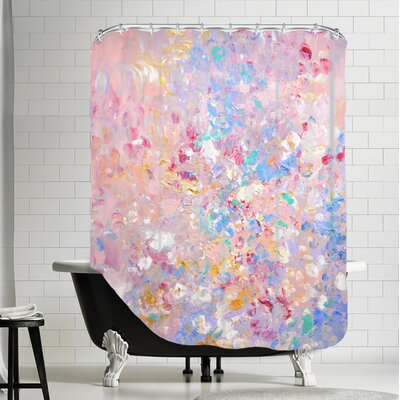 Vangundy Shower Curtain Color: Pink