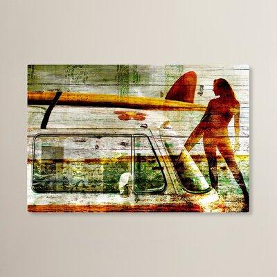 Brayden Studio Surf Gal Painting Print