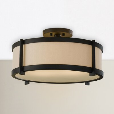 Strope 2-Light Semi-Flush Mount