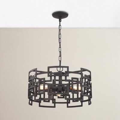 Dailey 3-Light Drum Chandelier