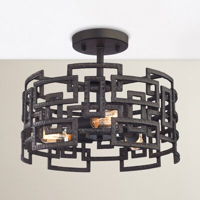 Dailey 3-Light Semi Flush Mount