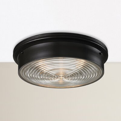 Ewert 3-Light Flush Mount Finish: Oiled Bronze