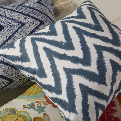 Dawkins Cotton Throw Pillow Color: Navy Blue, Size: 20 H x 20 W