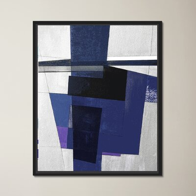 Dark Blues II Floater Framed Painting Print on Wrapped Canvas
