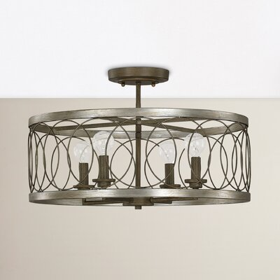 Cliffside 4-Light Semi Flush Mount