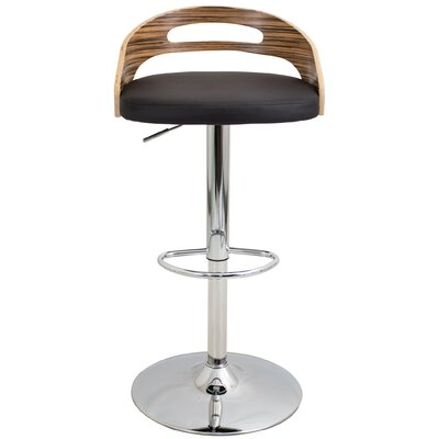 Zarate Swivel Bar Stool Upholstery: Brown