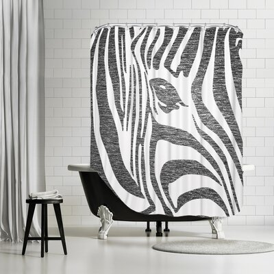 Ikonolexi Zebra 3 Shower Curtain Color: Black/White