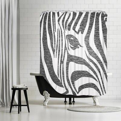 Ikonolexi Zebra 3 Shower Curtain Color: Black/White