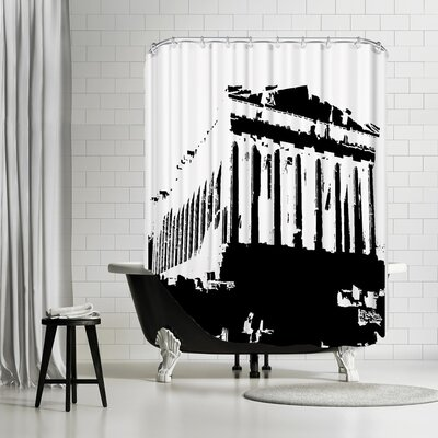 Ikonolexi Acropolis 1 Shower Curtain Color: Black