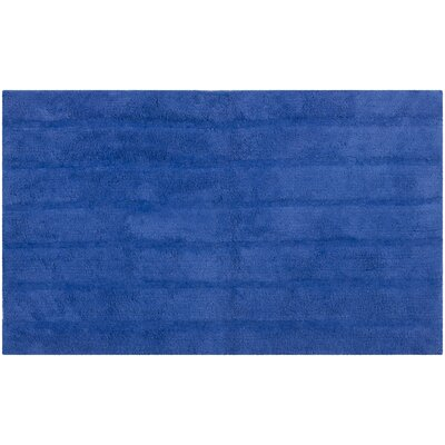 Tauber Master Bath Rug Size: 23 x 39, Color: Indigo