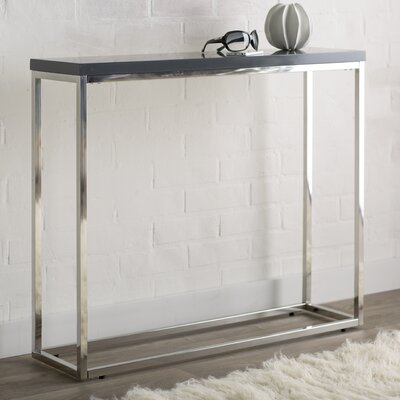 Brayden Studio Console Table Finish: Gray Lacquer
