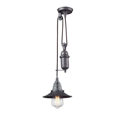 Cearley 1-Light Mini Pendant Finish: Weathered Zinc