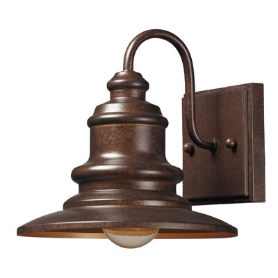 Mcshan 1-Light Outdoor Barn Light Finish: Hazelnut Bronze