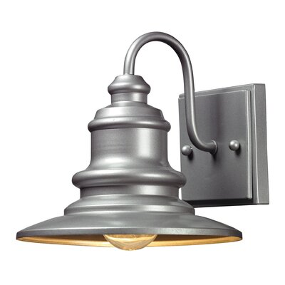 Mcshan 1-Light Outdoor Barn Light Finish: Matte Silver