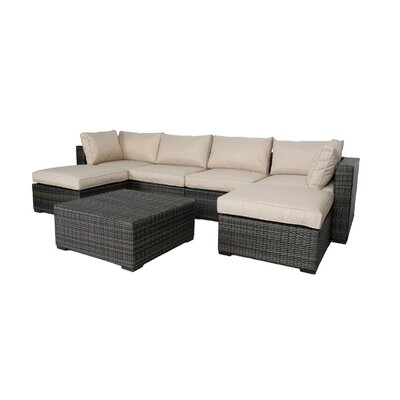 Lara 7 Piece Sectional Seating Group with Cushions