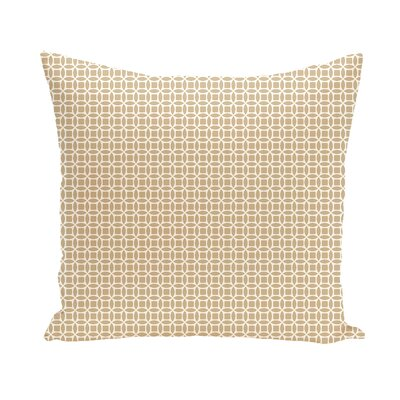 Agin Geometric Throw Pillow Size: 18 H x 18 W, Color: Ivory / Teal