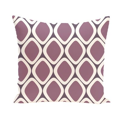 Schacher Geometric Throw Pillow Size: 16 H x 16 W, Color: Purple / Purple