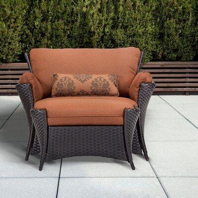 2-Piece Chandra Patio Arm Chair & Ottoman Set
