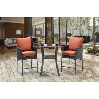 Billington 3 Piece Bar Table Set with Cushions