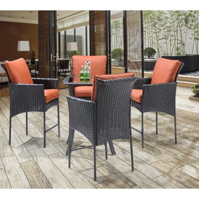 Billington 5 Piece Dining Set with Cushions