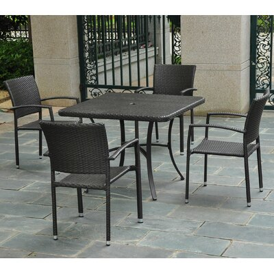 Katzer 5 Piece Dining Set Finish: Black Antique