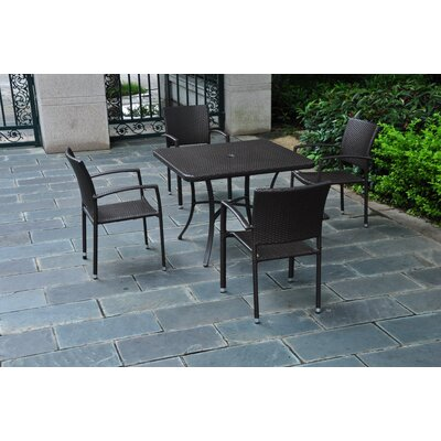 Katzer 5 Piece Dining Set Finish: Chocolate