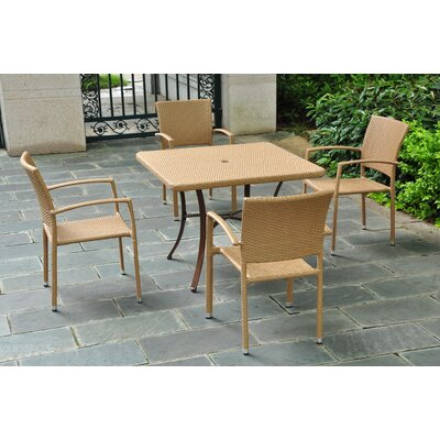 Katzer 5 Piece Dining Set Finish: Honey