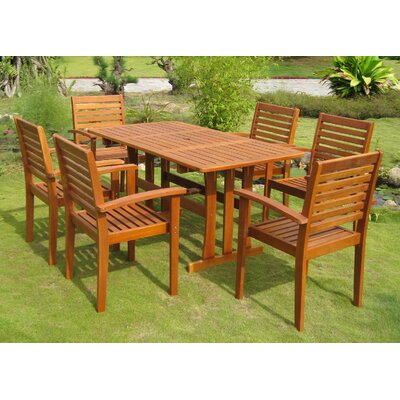 Katzer 7 Piece Dining Set