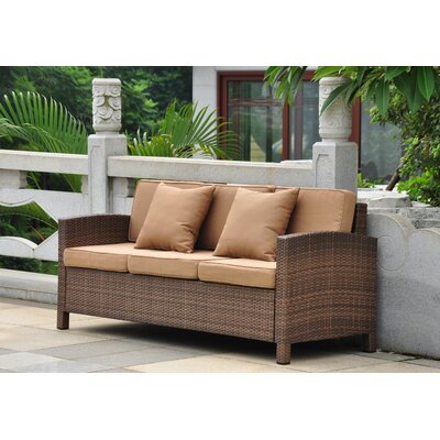 Katzer Sofa with Cushions Finish: Antique Brown / Coffee