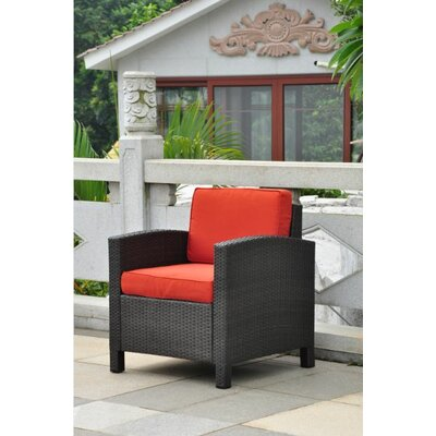 Katzer Chair with Cushion Finish: Black / Spice Red