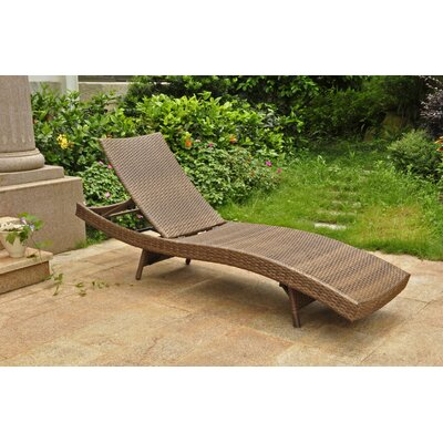 Katzer Chaise Lounge Finish: Antique Brown