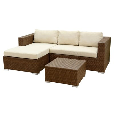 3-Piece Quinn Patio Sectional Seating Group