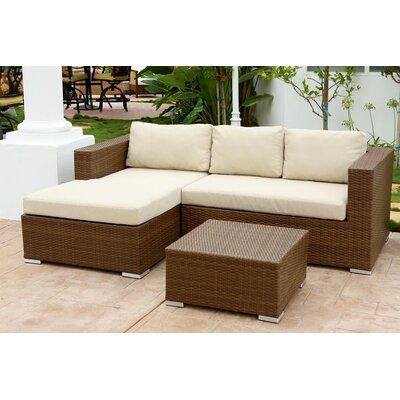 Battista 3 Piece Deep Seating Group with Cushion