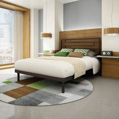 Brophy Platform Bed Size: Full, Color: Textured Dark Brown