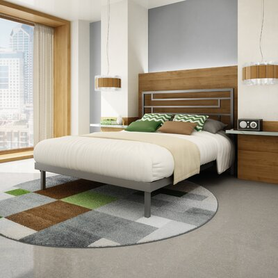 Brophy Platform Bed Size: Queen, Finish: Glossy Grey