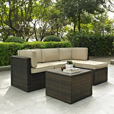 Belton 5 Piece Modular Seating Group Fabric: Sand