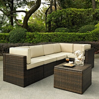 Belton 6 Piece Deep Seating Group with Cushion Fabric: Sand