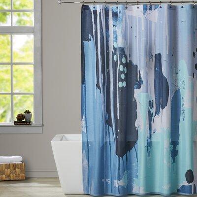 Deb McNaughton White Drips Shower Curtain