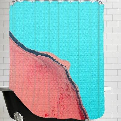 Deb McNaughton Peach Mountain Shower Curtain