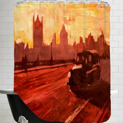 Markus Bleichner London Bus Dusk Shower Curtain