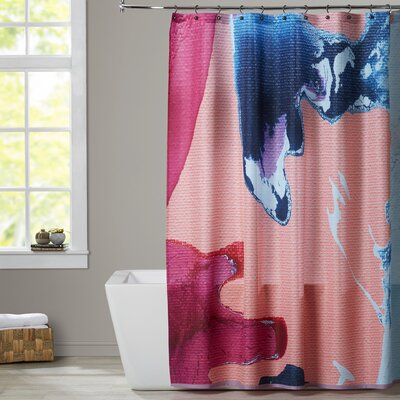 Deb McNaughton Peach and Pink Shower Curtain