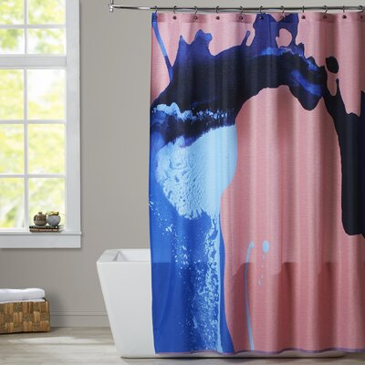 Deb McNaughton Peach Waves Shower Curtain