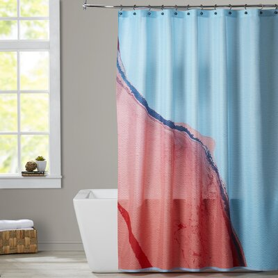 Deb McNaughton Peach Mountain Shower Curtain