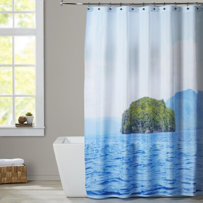 Mina Teslaru Greetings from Nowhere Shower Curtain