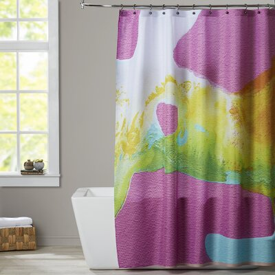 Deb McNaughton Smooth Yellow Shower Curtain