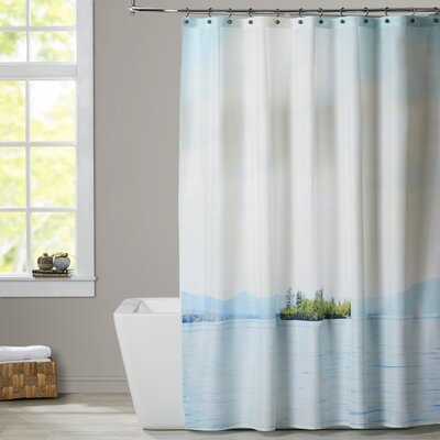 Mina Teslaru Greetings from Nowhere-3 Shower Curtain
