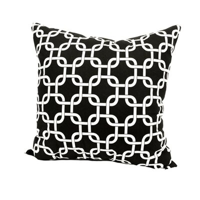 Banas Indoor/Outdoor Throw Pillow Color: Black