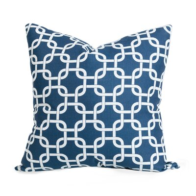 Danko Indoor/Outdoor Throw Pillow Color: Navy Blue
