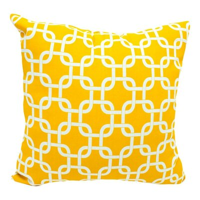 Banas Indoor/Outdoor Throw Pillow Color: Yellow